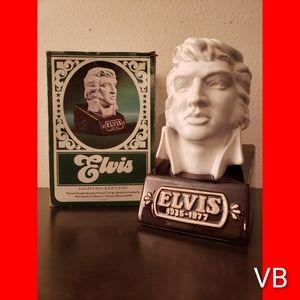 Vintage Elvis Prestley Bust Decanter.